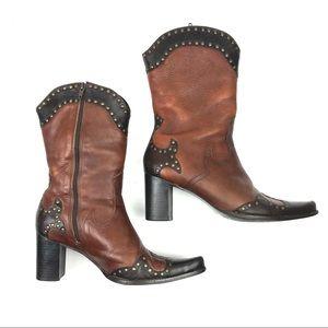 Matisse studded Western cowboy heeled boots